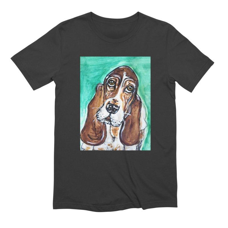 Basset Hound Men's Extra Soft T-Shirt by AlmaT's Artist Shop