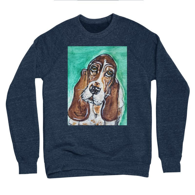 Basset Hound Women's Sponge Fleece Sweatshirt by AlmaT's Artist Shop