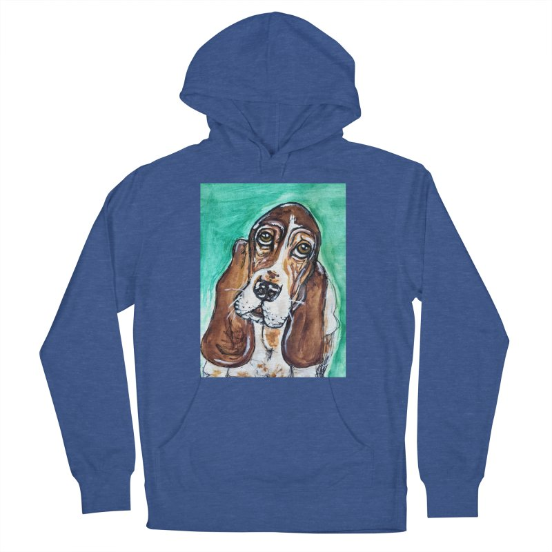 Basset Hound Women's French Terry Pullover Hoody by AlmaT's Artist Shop