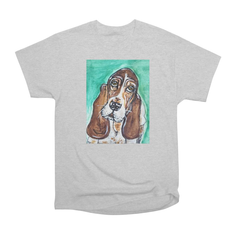 Basset Hound Women's Heavyweight Unisex T-Shirt by AlmaT's Artist Shop