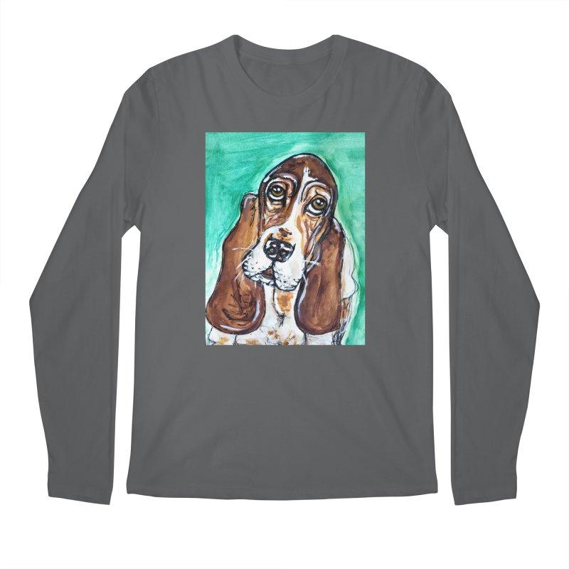 Basset Hound Men's Longsleeve T-Shirt by AlmaT's Artist Shop