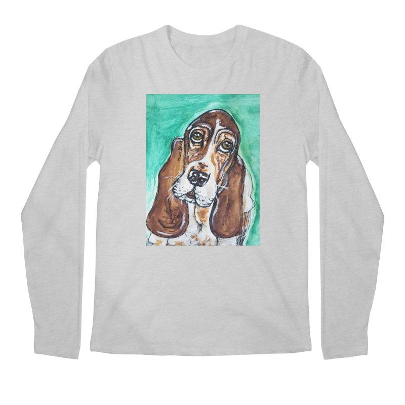 Basset Hound Men's Regular Longsleeve T-Shirt by AlmaT's Artist Shop