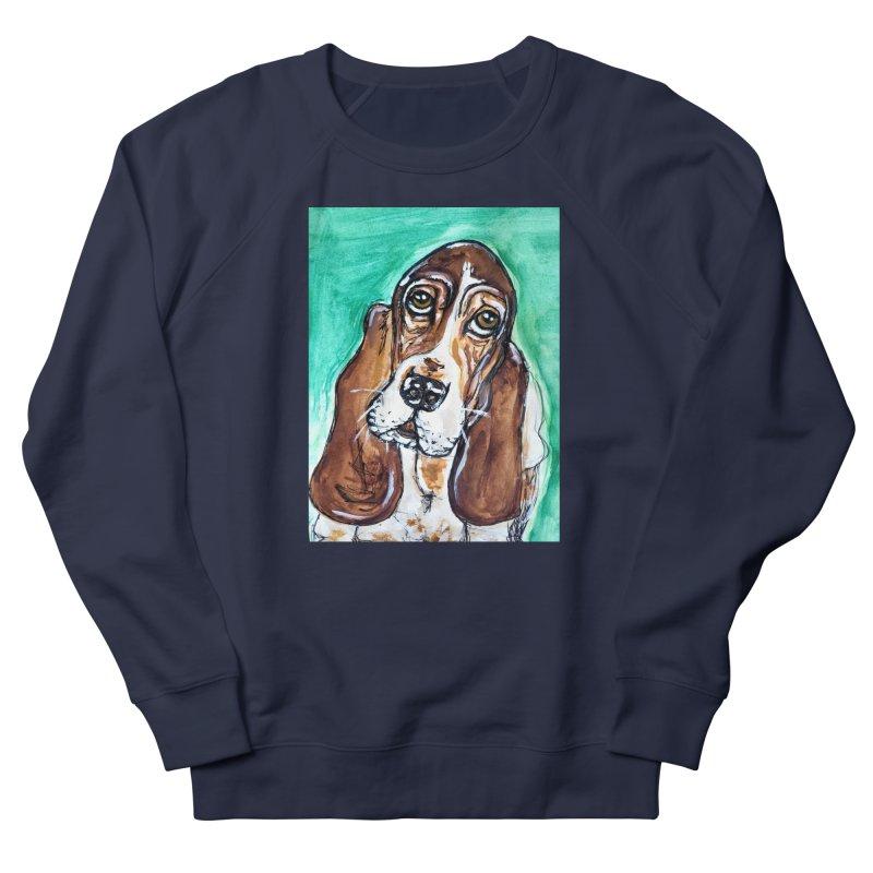 Basset Hound Women's French Terry Sweatshirt by AlmaT's Artist Shop