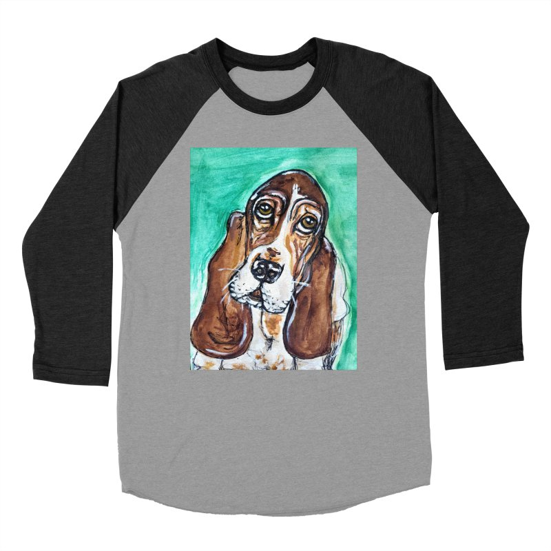 Basset Hound Men's Baseball Triblend Longsleeve T-Shirt by AlmaT's Artist Shop