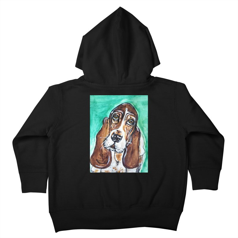 Basset Hound Kids Toddler Zip-Up Hoody by AlmaT's Artist Shop