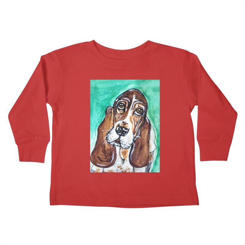 Basset Hound Kids Toddler Longsleeve T-Shirt by AlmaT's Artist Shop