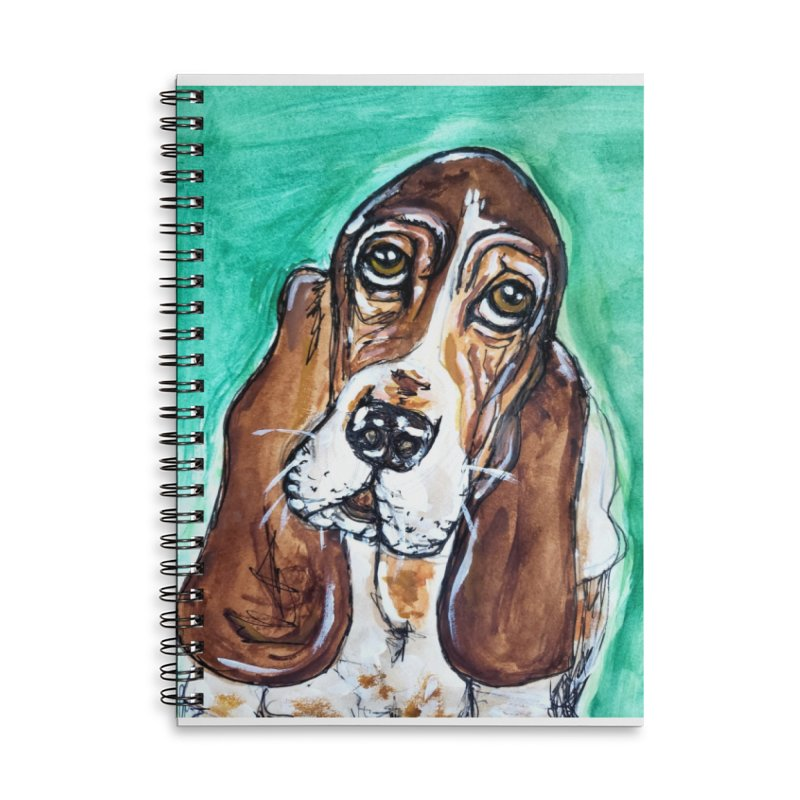 Basset Hound Accessories Lined Spiral Notebook by AlmaT's Artist Shop