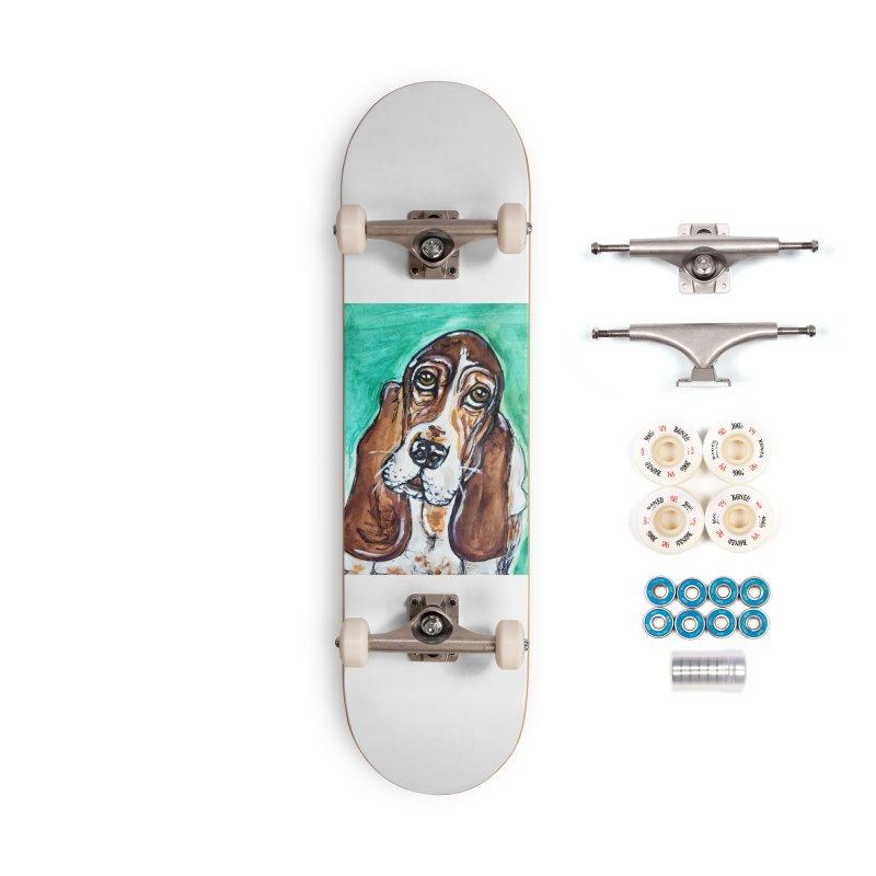 Basset Hound Accessories Complete - Premium Skateboard by AlmaT's Artist Shop