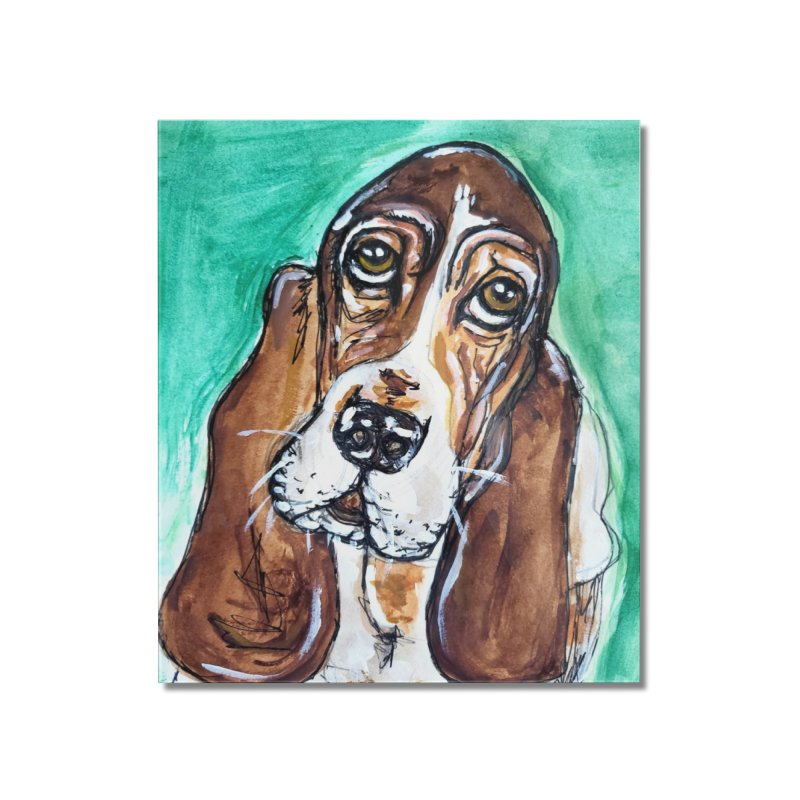 Basset Hound Home Mounted Acrylic Print by AlmaT's Artist Shop