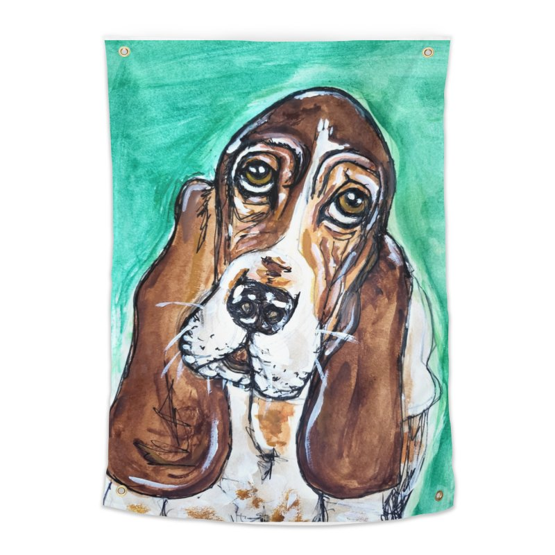 Basset Hound Home Tapestry by AlmaT's Artist Shop