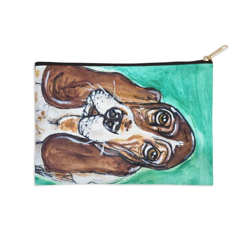 Basset Hound Accessories Zip Pouch by AlmaT's Artist Shop