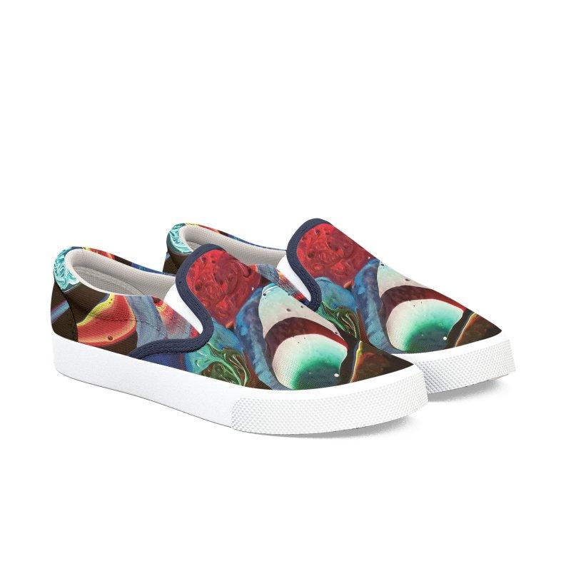 Color Rhapsody Men's Slip-On Shoes by AlmaT's Artist Shop