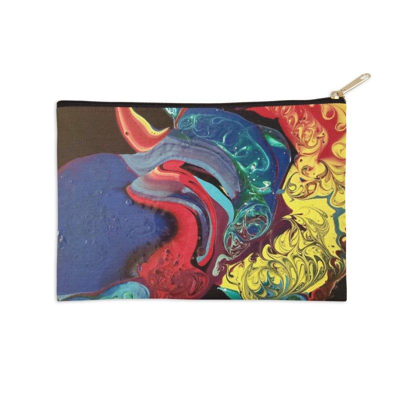 Color Rhapsody Accessories Zip Pouch by AlmaT's Artist Shop