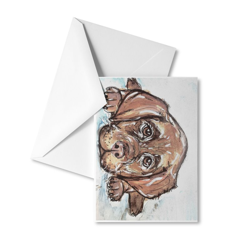 Chocolate Lab Puppy Accessories Greeting Card by AlmaT's Artist Shop
