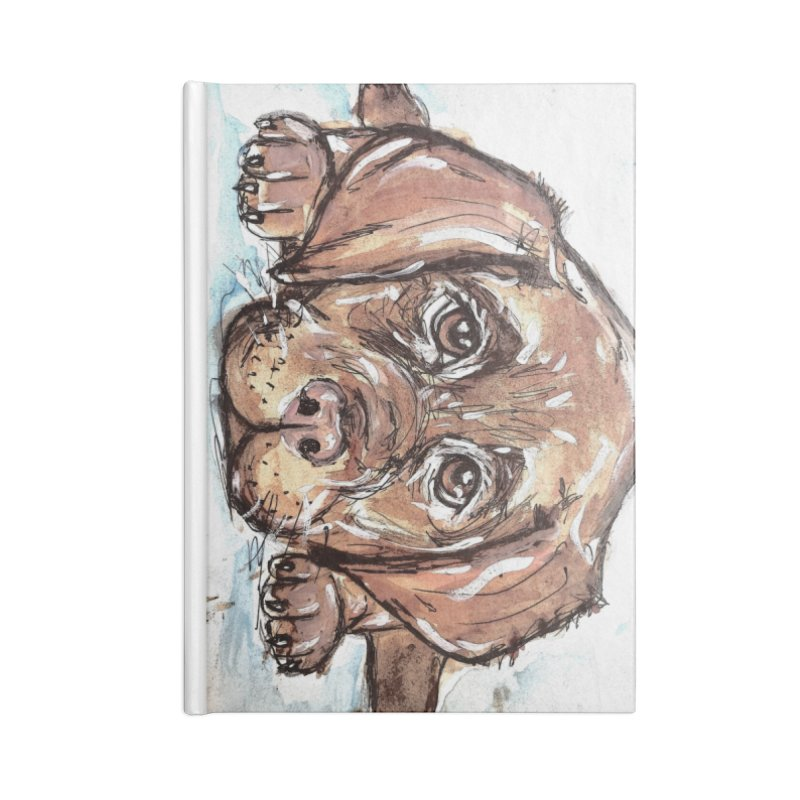 Chocolate Lab Puppy Accessories Lined Journal Notebook by AlmaT's Artist Shop