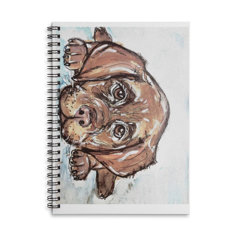 Chocolate Lab Puppy Accessories Lined Spiral Notebook by AlmaT's Artist Shop