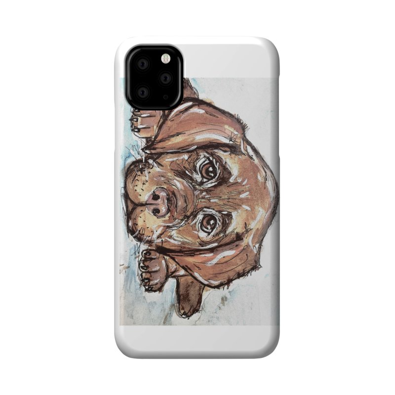 Chocolate Lab Puppy Accessories Phone Case by AlmaT's Artist Shop
