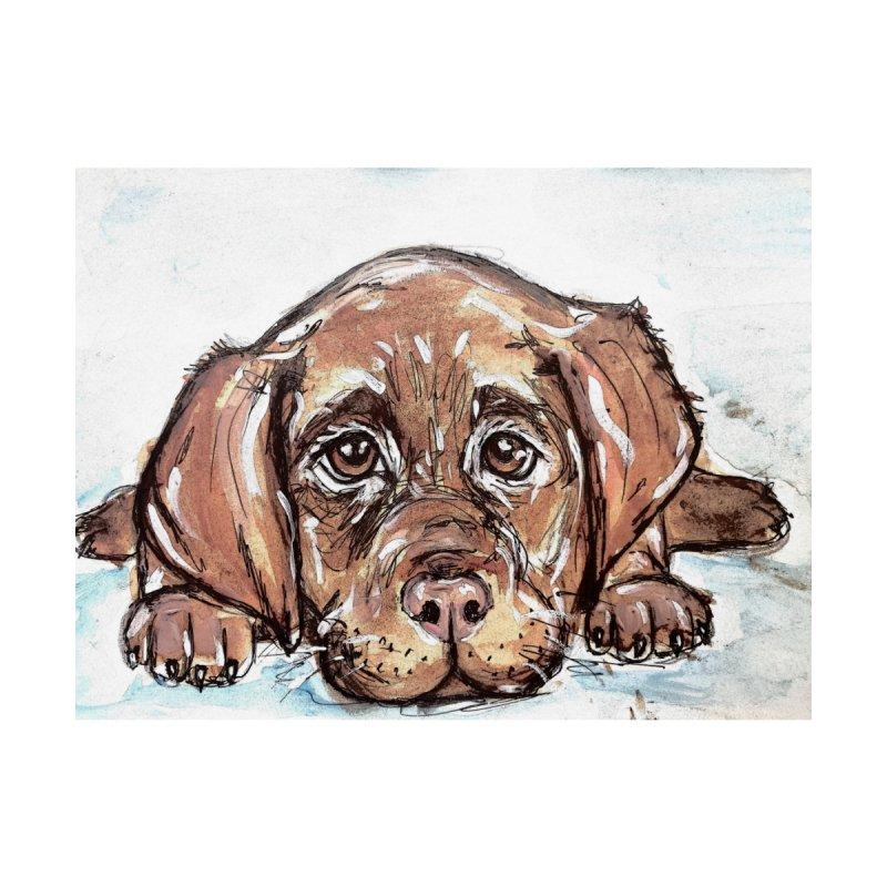 Chocolate Lab Puppy by AlmaT's Artist Shop