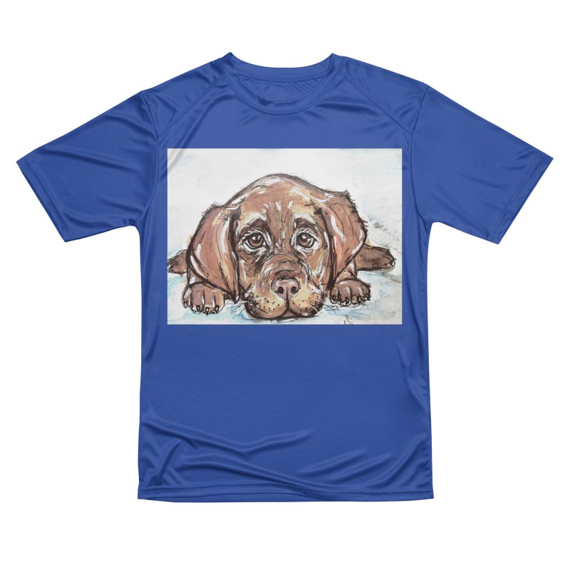 Chocolate Lab Puppy Men's Performance T-Shirt by AlmaT's Artist Shop