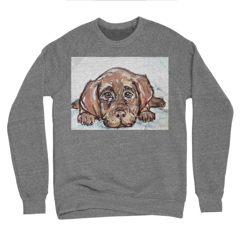 Chocolate Lab Puppy Women's Sponge Fleece Sweatshirt by AlmaT's Artist Shop