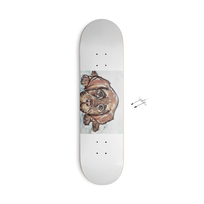 Chocolate Lab Puppy Accessories With Hanging Hardware Skateboard by AlmaT's Artist Shop