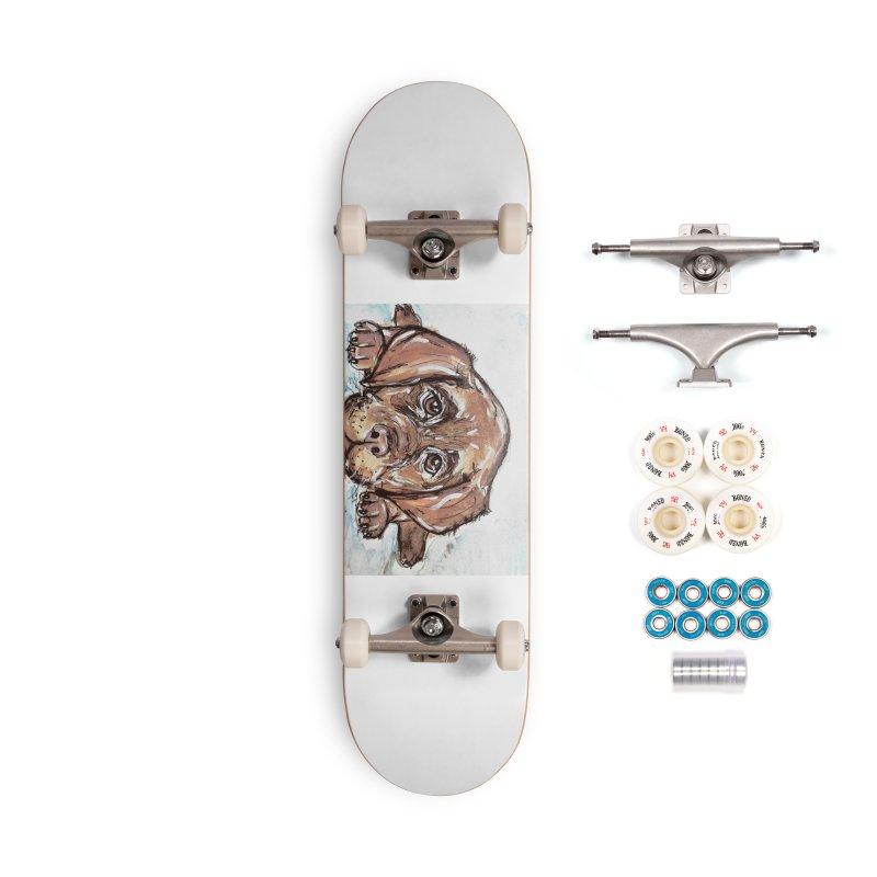 Chocolate Lab Puppy Accessories Complete - Premium Skateboard by AlmaT's Artist Shop