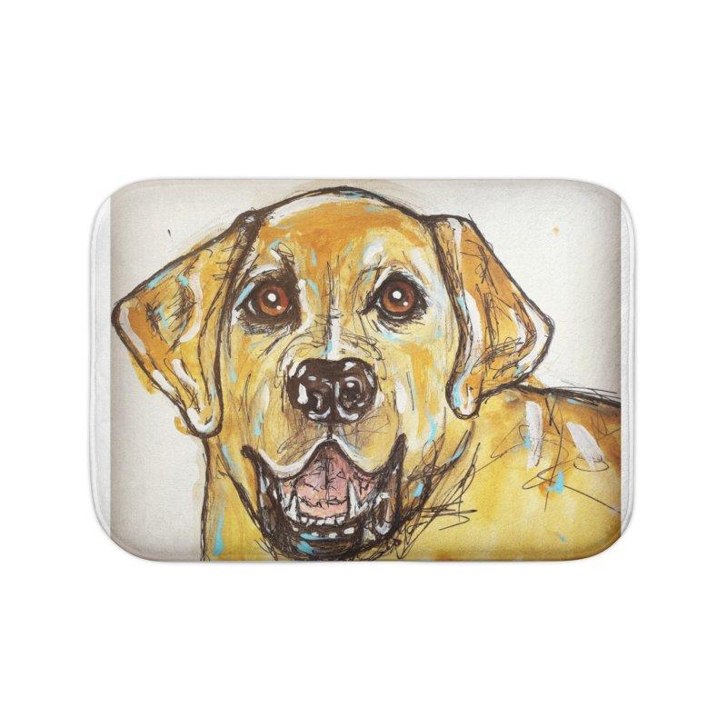 Labrador Retriever Home Bath Mat by AlmaT's Artist Shop