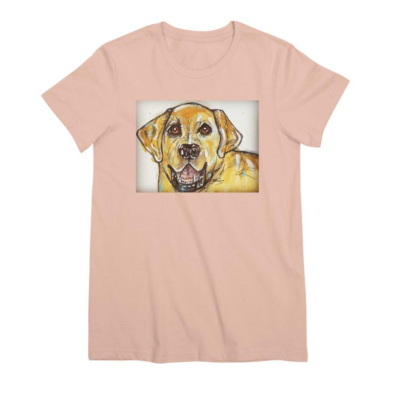 Labrador Retriever Women's Premium T-Shirt by AlmaT's Artist Shop