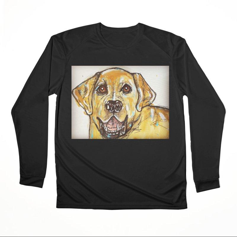 Labrador Retriever Men's Performance Longsleeve T-Shirt by AlmaT's Artist Shop