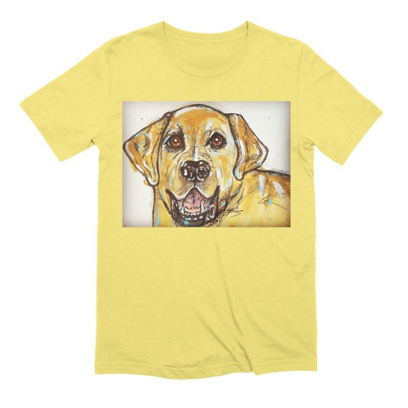 Labrador Retriever Men's Extra Soft T-Shirt by AlmaT's Artist Shop