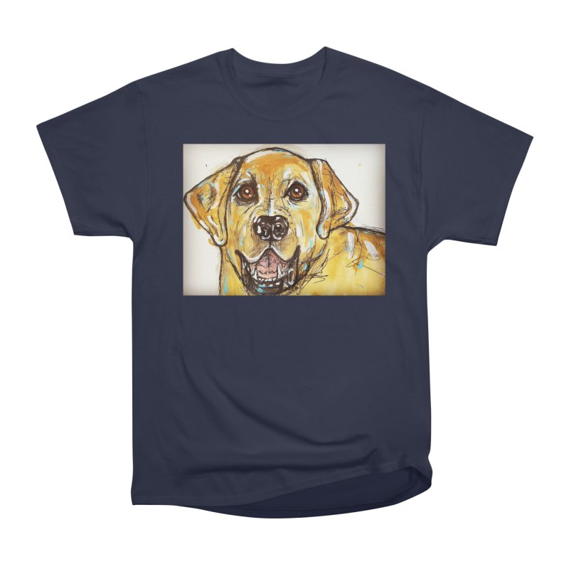 Labrador Retriever Women's Heavyweight Unisex T-Shirt by AlmaT's Artist Shop
