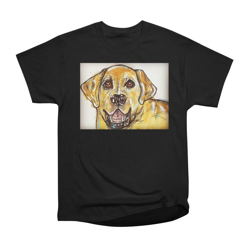 Labrador Retriever Men's Heavyweight T-Shirt by AlmaT's Artist Shop