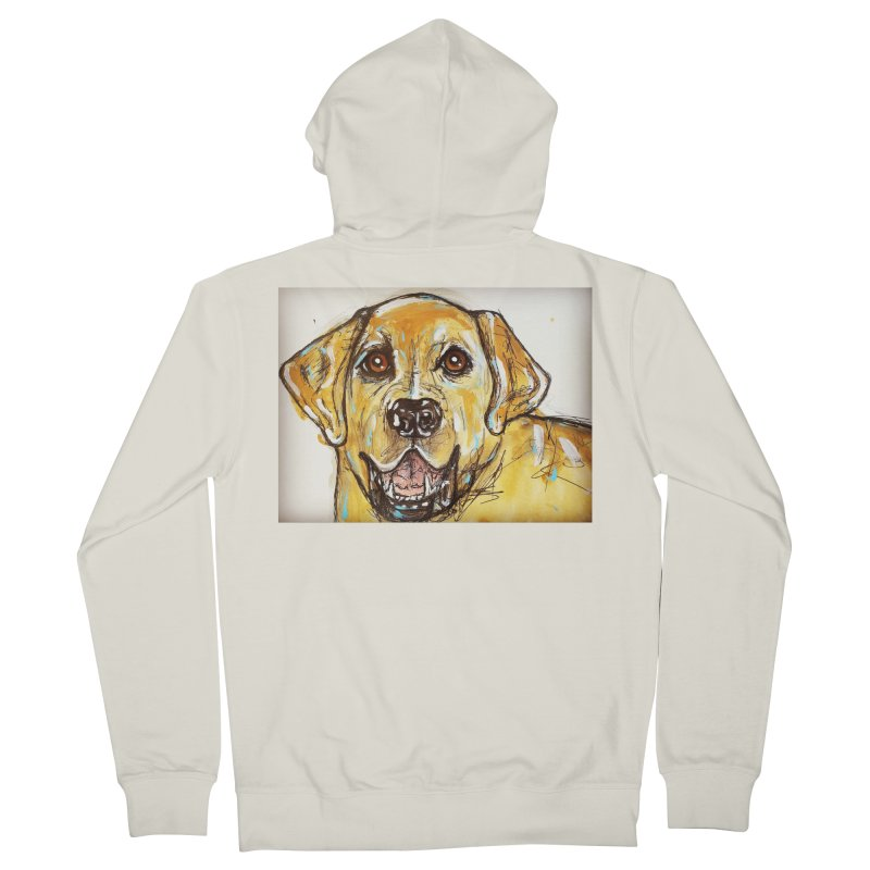 Labrador Retriever Women's French Terry Zip-Up Hoody by AlmaT's Artist Shop