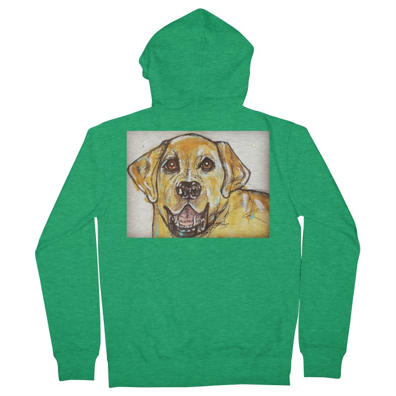 Labrador Retriever Men's Zip-Up Hoody by AlmaT's Artist Shop