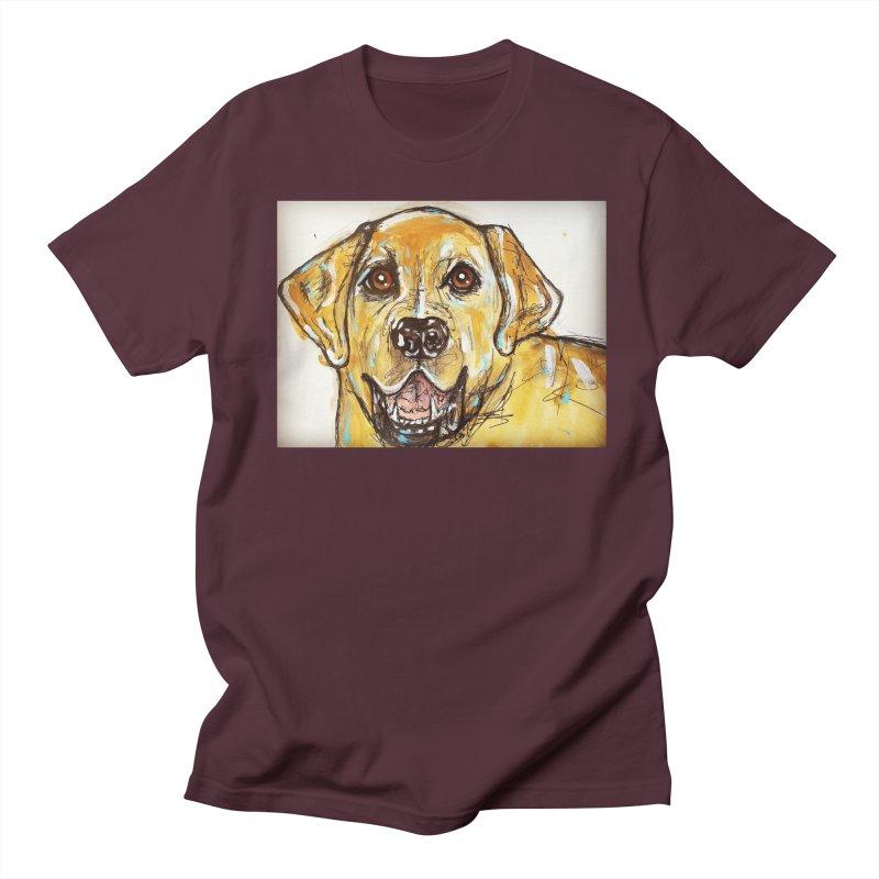 Labrador Retriever Men's Regular T-Shirt by AlmaT's Artist Shop