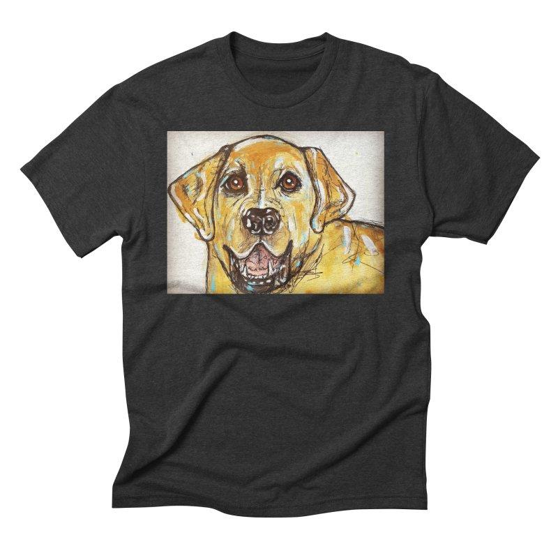 Labrador Retriever Men's Triblend T-Shirt by AlmaT's Artist Shop