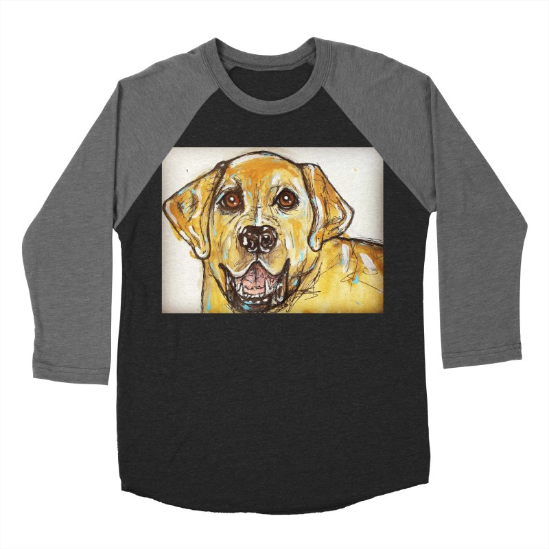 Labrador Retriever Women's Baseball Triblend Longsleeve T-Shirt by AlmaT's Artist Shop