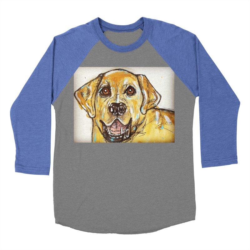 Labrador Retriever Men's Baseball Triblend Longsleeve T-Shirt by AlmaT's Artist Shop