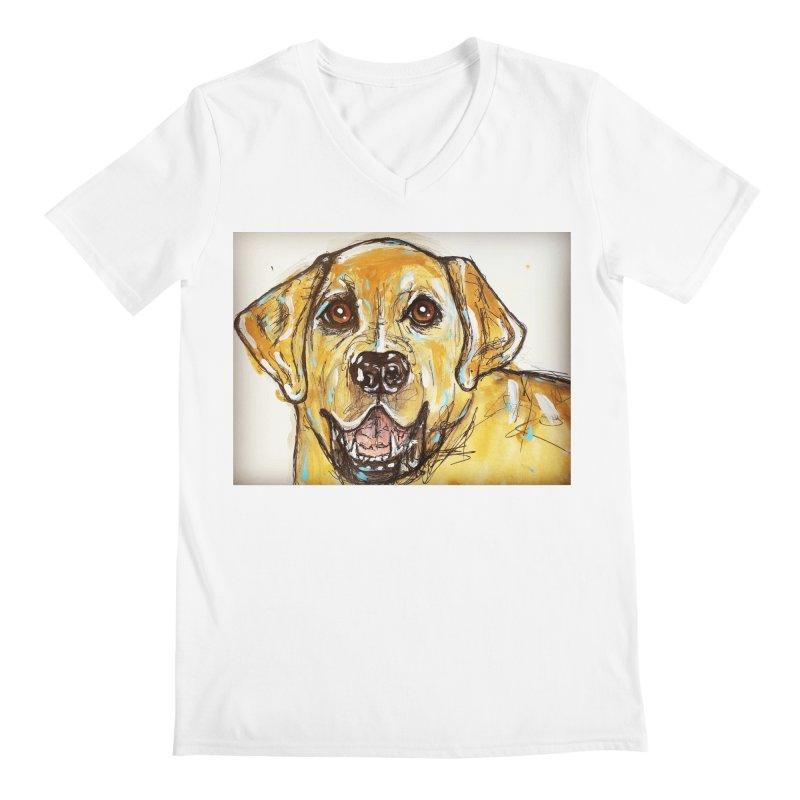 Labrador Retriever Men's Regular V-Neck by AlmaT's Artist Shop