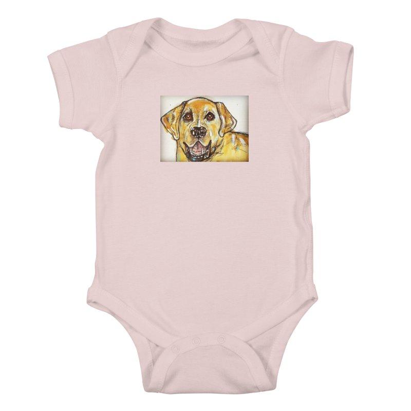 Labrador Retriever Kids Baby Bodysuit by AlmaT's Artist Shop