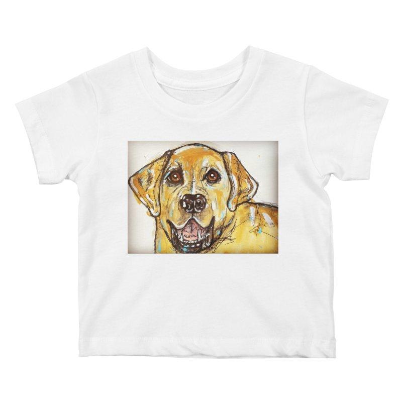 Labrador Retriever Kids Baby T-Shirt by AlmaT's Artist Shop