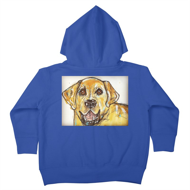 Labrador Retriever Kids Toddler Zip-Up Hoody by AlmaT's Artist Shop