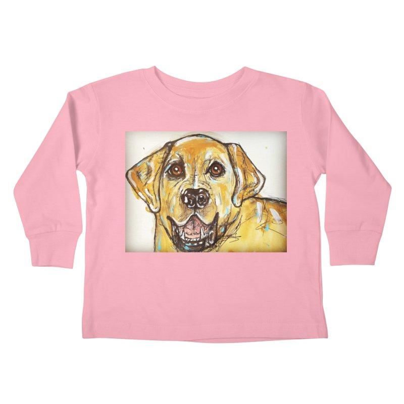 Labrador Retriever Kids Toddler Longsleeve T-Shirt by AlmaT's Artist Shop