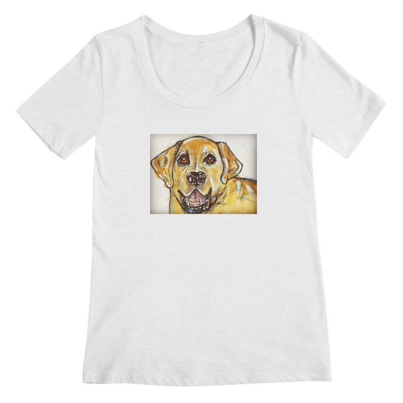 Labrador Retriever Women's Regular Scoop Neck by AlmaT's Artist Shop
