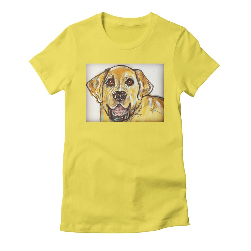 Labrador Retriever Women's Fitted T-Shirt by AlmaT's Artist Shop