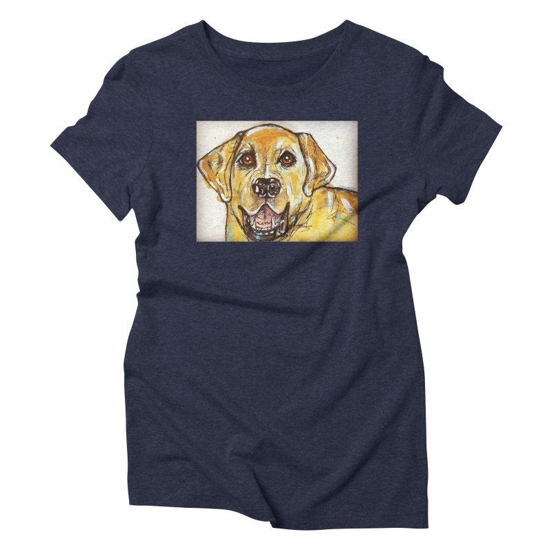Labrador Retriever Women's Triblend T-Shirt by AlmaT's Artist Shop