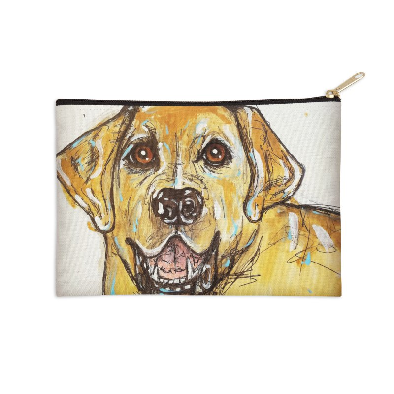 Labrador Retriever Accessories Zip Pouch by AlmaT's Artist Shop