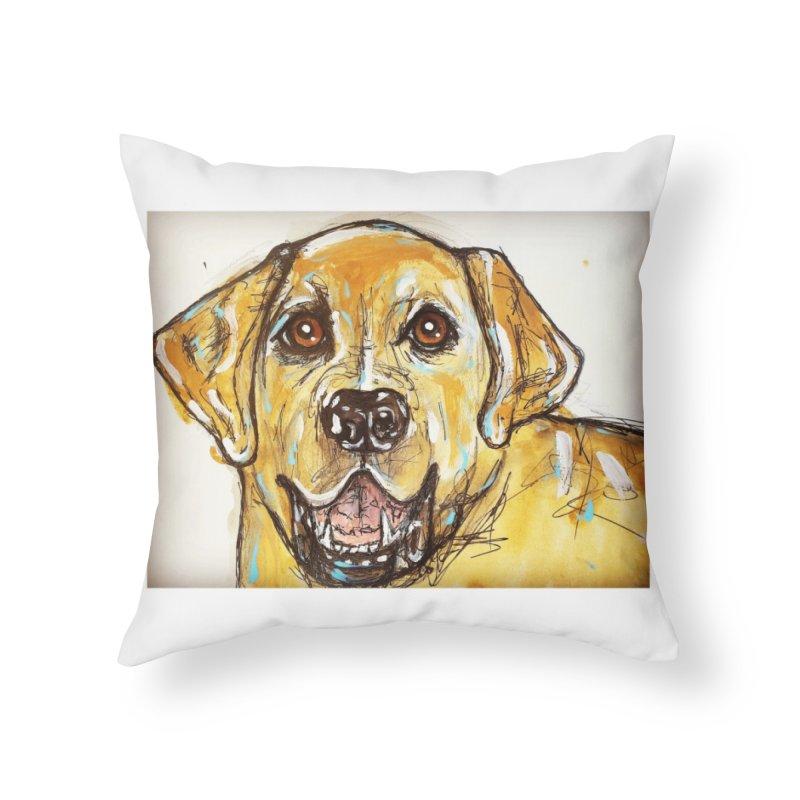 Labrador Retriever Home Throw Pillow by AlmaT's Artist Shop