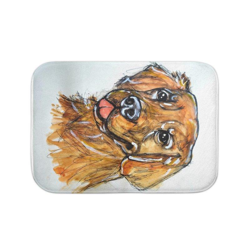 Golden Retriever Home Bath Mat by AlmaT's Artist Shop