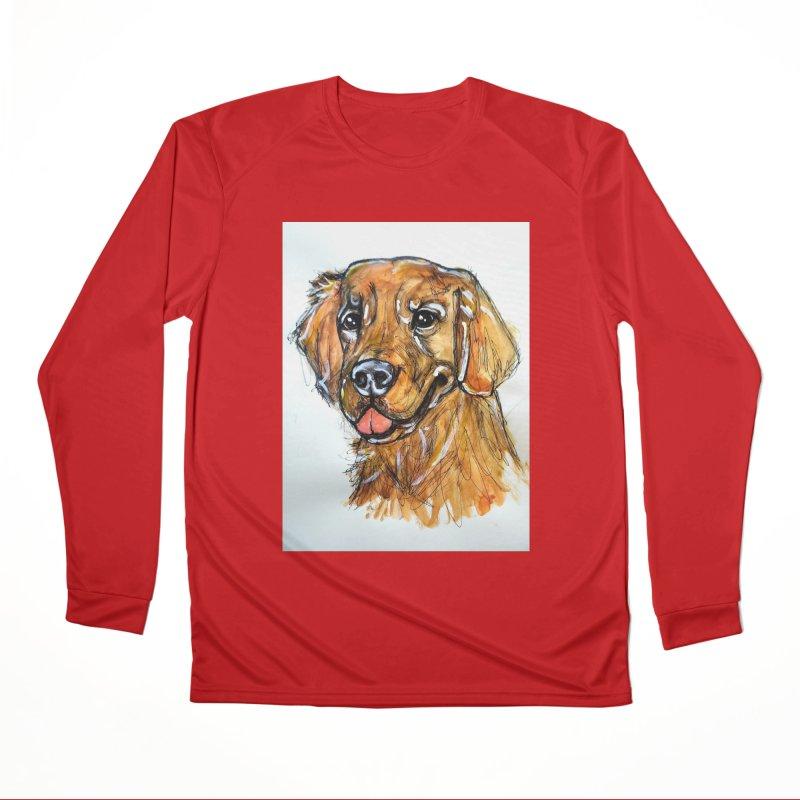Golden Retriever Men's Performance Longsleeve T-Shirt by AlmaT's Artist Shop